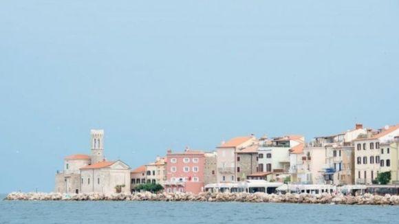 Seawater adjoining the Slovenian coastal town of Piran (27 June 2917)