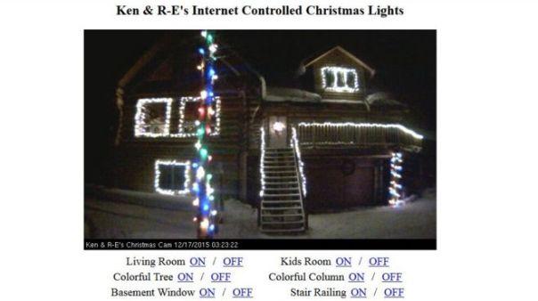 Screengrab of Christmas lights on house