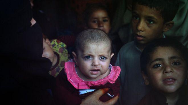 Muitos afegãos fugiram do Afeganistão em direção ao Paquistão