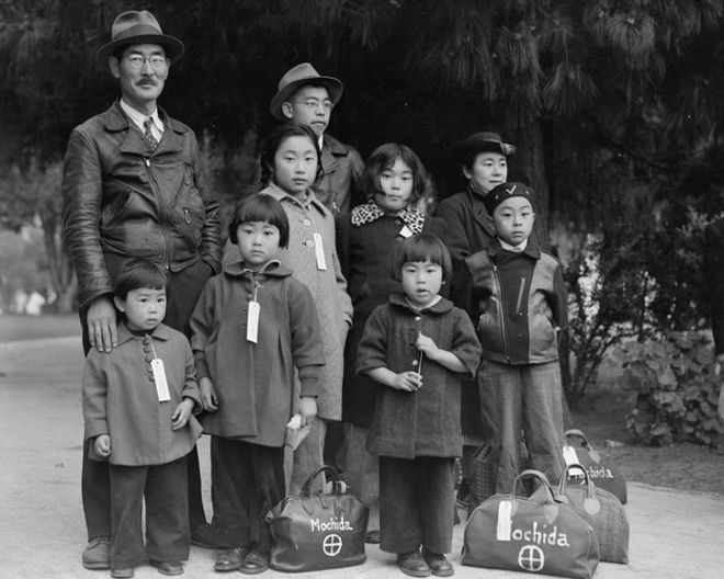 A família Mochida em 1942