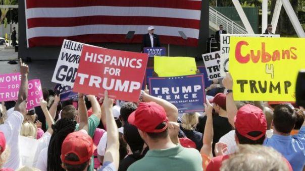 Mitin de Trump en Miami.