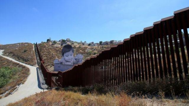 Muro en Tecate, California.