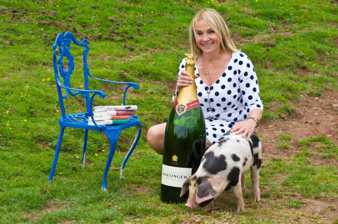 Bridget Jones author Helen Fielding won last year, and had a pig named after her book