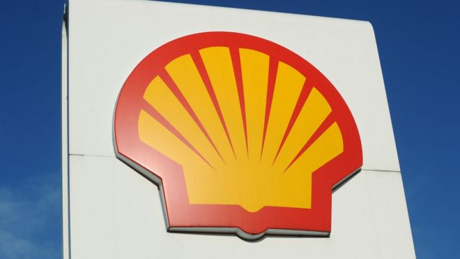 Shell petrol station sign