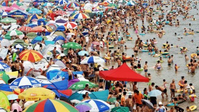 Playa de Fujiazhuang, en Dalián, China.