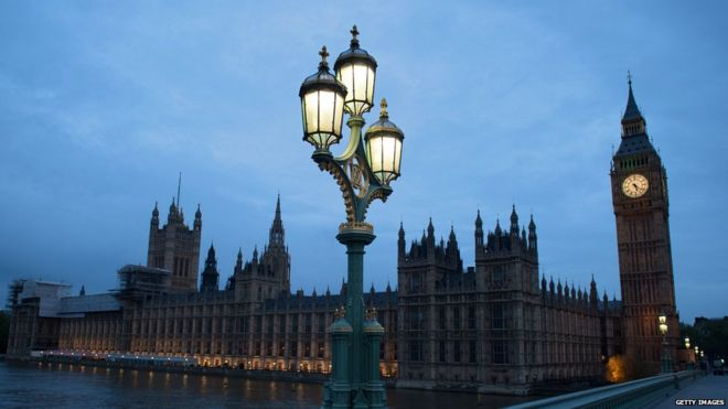Parliament at dawn