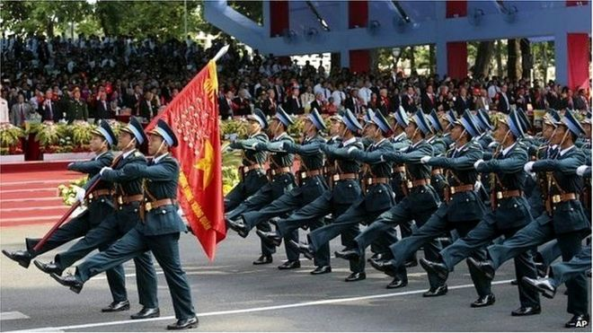 Diễu binh ngày 30/4 ở TP HCM