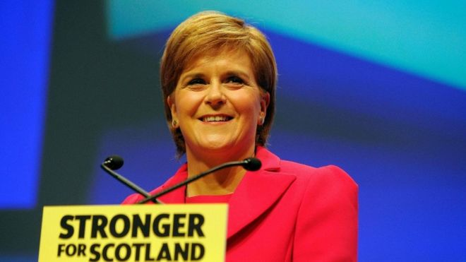 Nicola Sturgeon van de SNP. (foto: Getty/bbc.com)