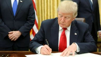 Image result for trump signing EOs