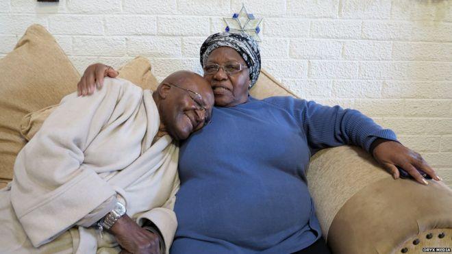 Desmond Tutu, his wife Leah