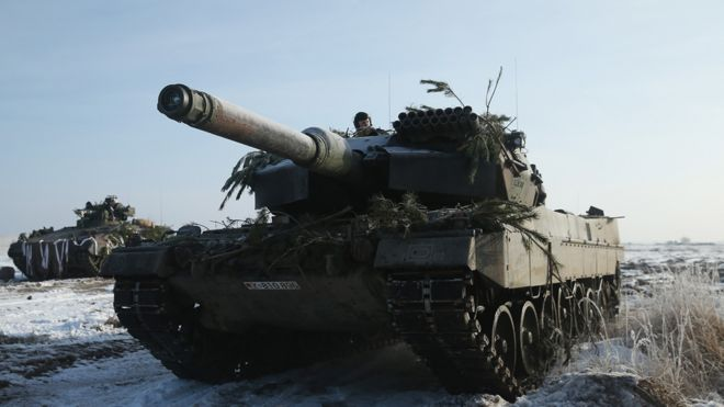 German Leopard tank, 2014 file pic
