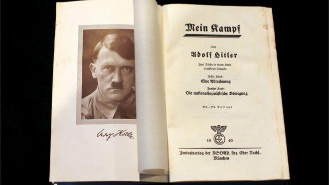 "A copy of Adolf Hitler""s book 'Mein Kampf'"