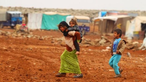 refugee camp within Syria