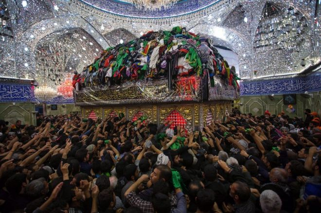 Shia Muslims in the holy city of Karbala