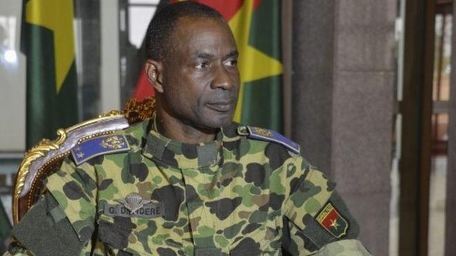 Burkina Faso coup leader General Gilbert Diendere sits in the Palace Akossyam in the capital Ouagadougou, Burkina Faso, 22 September 2015