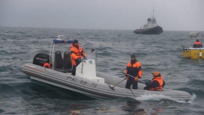 Search operation in the Black Sea near Sochi, Russia. Photo: 25 December 2016