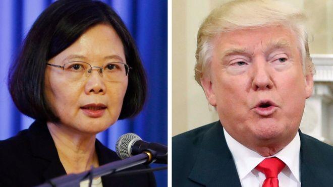 Bà Thái Anh Văn và ông Donald Trump