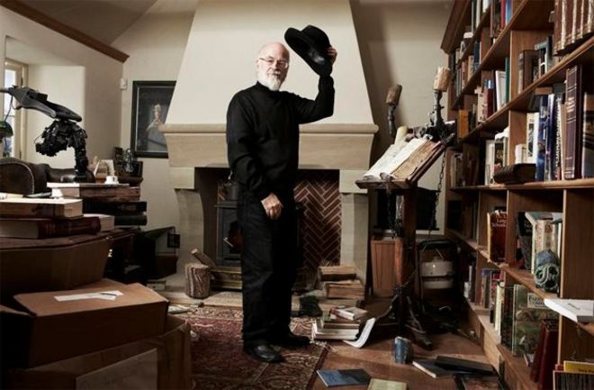 Image result for pratchett at work