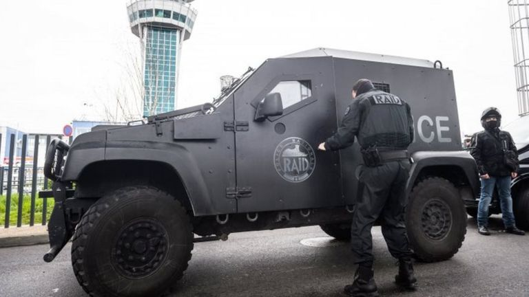 French anti-terrorist police at Orly airport