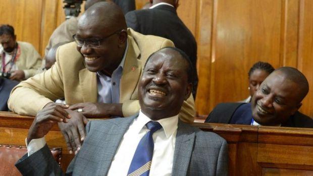 Raila Odinga (C)