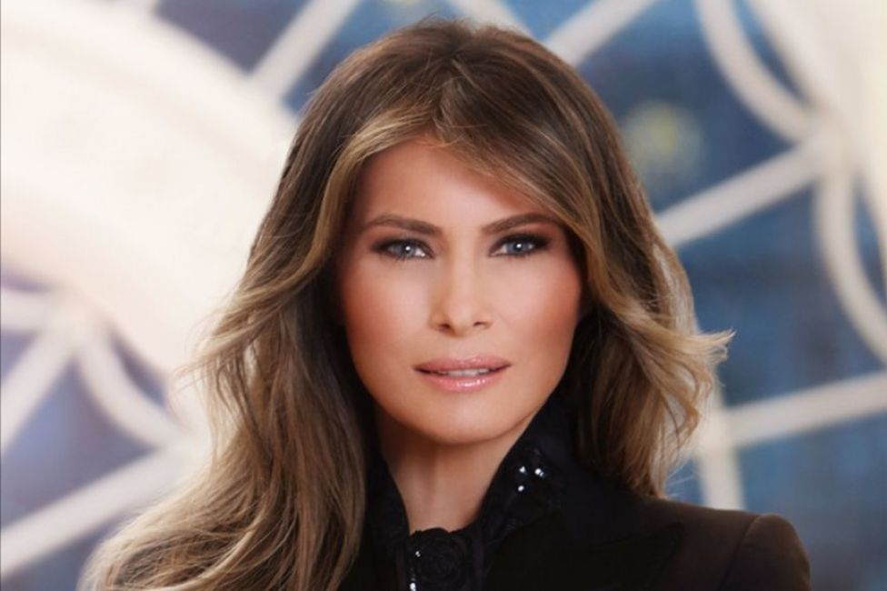 Mrs Trump&39;s official White House portrait was revealed at the beginning of April