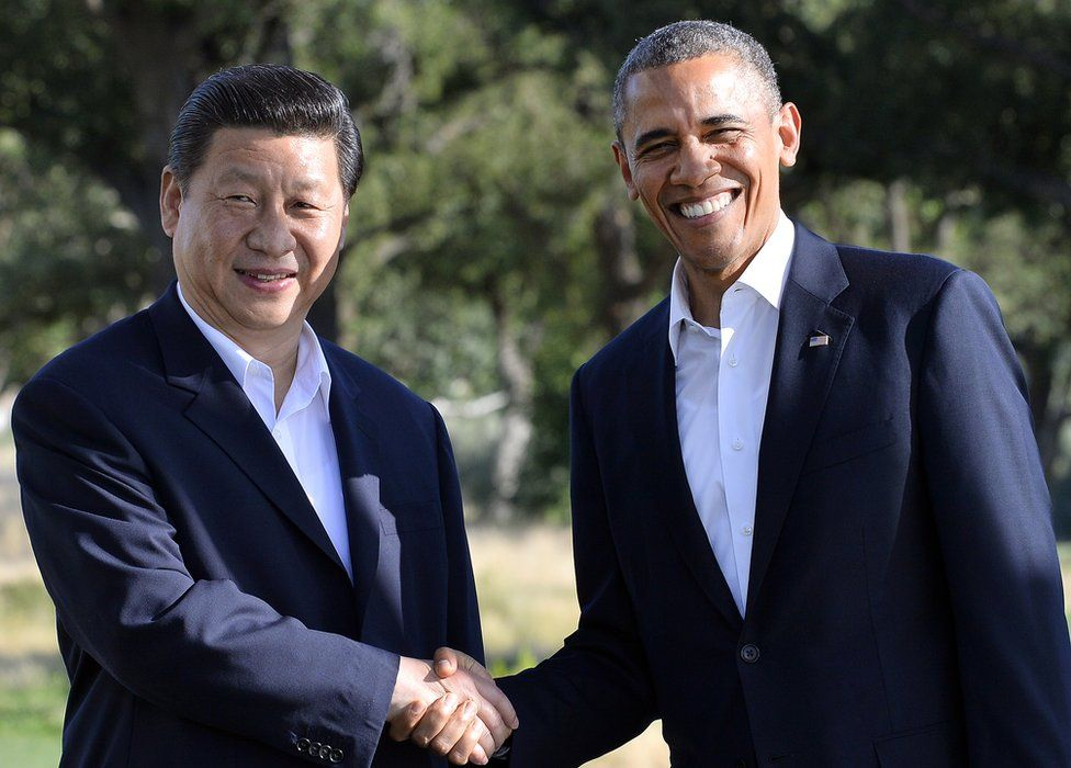 President Xi and President Obama, pictured in 2013