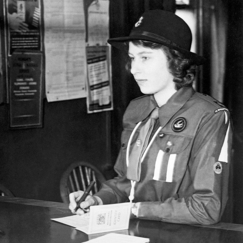 Princess Elizabeth in her Girl Guide uniform