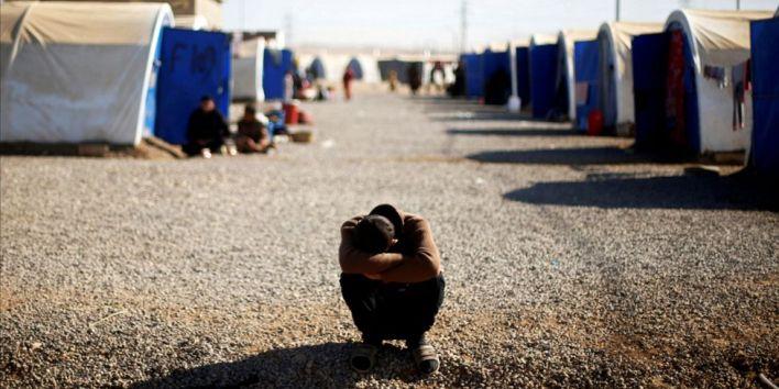 صبي في أحد مخيمات النازحين