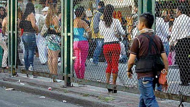 Prostitución en el barrio La Merced, foto cortesía Reintegra.