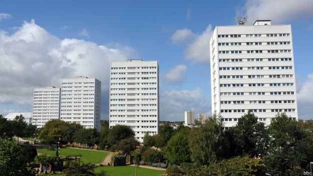 Moradias estatais em Londres | Foto: BBC