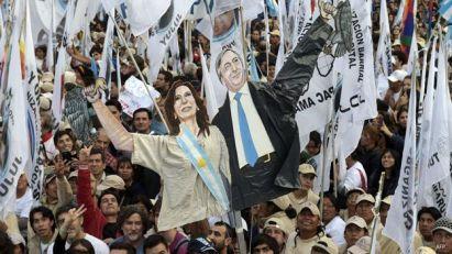 Marcha en apoyo de Cristina Fernandez, presidenta de Argentina