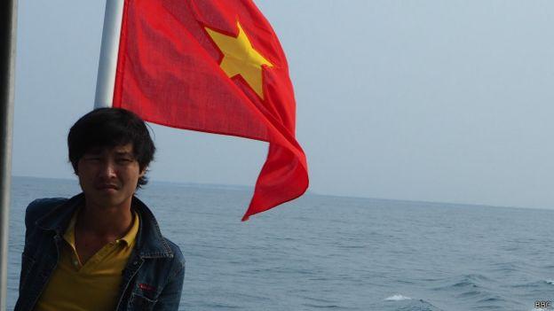Ngư dân Việt Nam trên vùng biển gần đảo Lý Sơn