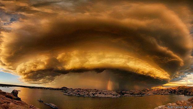 Foto que parece una explosión nuclear