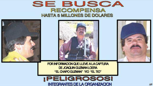 Poster de búsqueda de El Chapo Guzmán