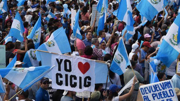 Manifestaciones en Guatemala contra la corrupción
