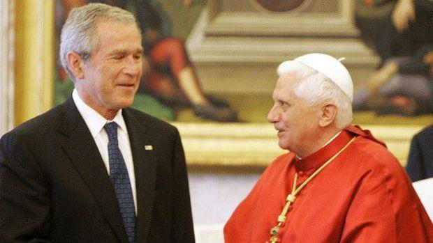 George W. Bush y Benedicto XVI