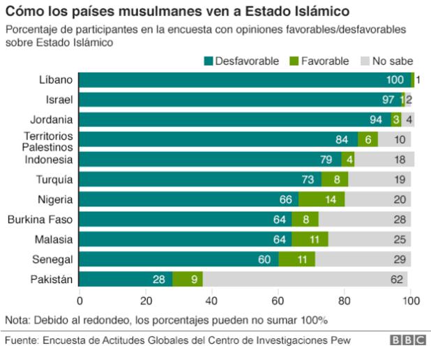 Infografía musulmanes Estado Islámico