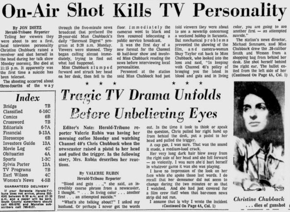 Portada del Sarasota Herald Tribune del 16 de julio de 1974