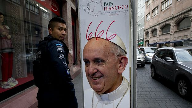 Cartel del Papa Francisco