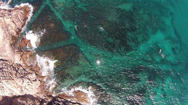 Vista aérea del lugar del naufragio.