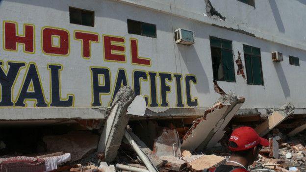 Hotel destruido
