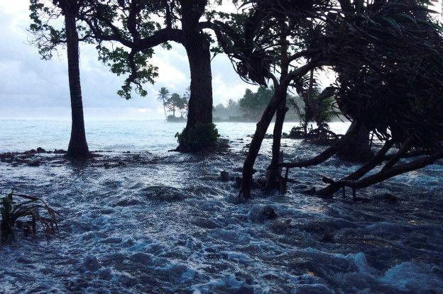 Inundación en las islas Marshall