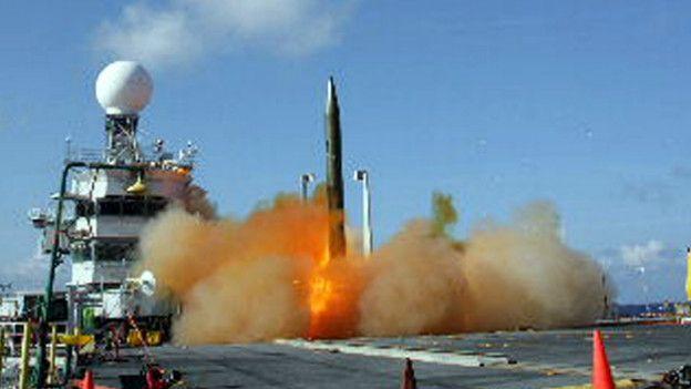 Prueba con misil interceptor