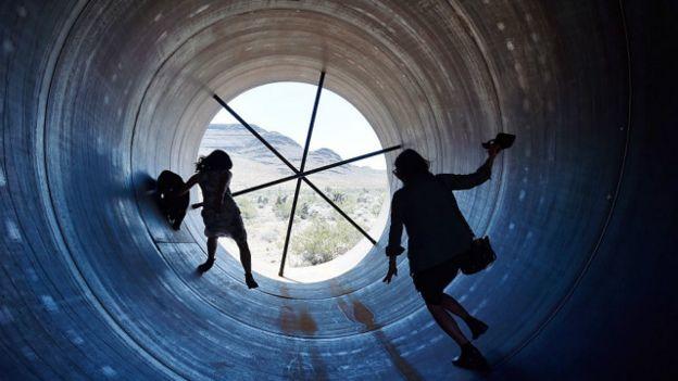 Un tubo del Hyperloop