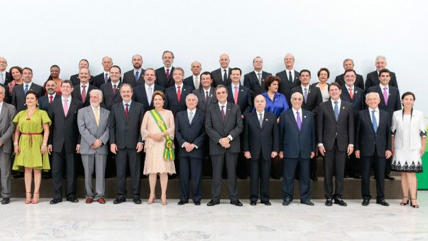 Gabinete de Dilma Rousseff el 1 de enero de 2015