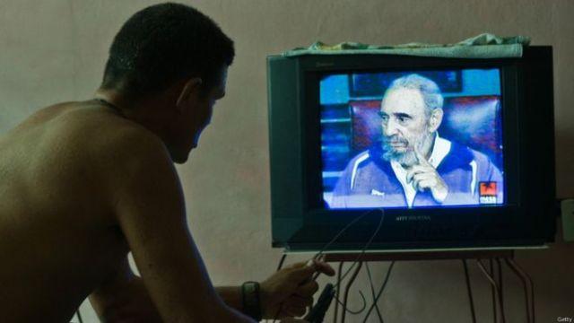 Fidel Castro en la televisión cubana, 2009. Foto: Getty Images