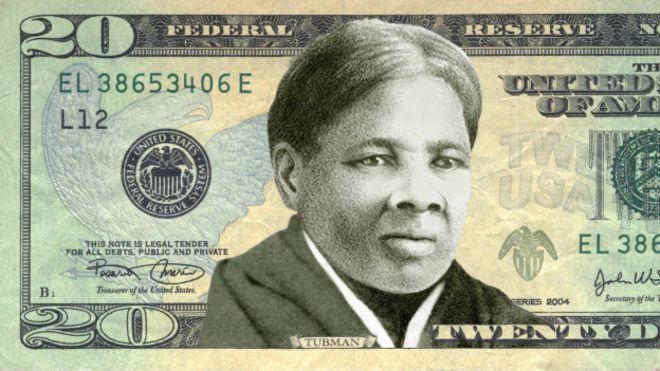 Портрет Гарриет Табмен на новой банкноте