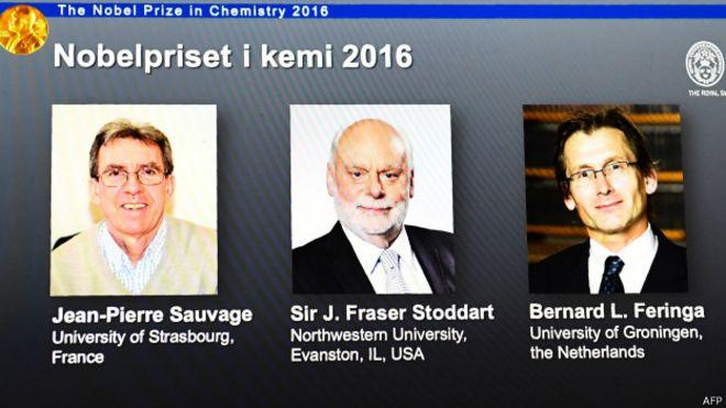 Ba nhà khoa học được giải thưởng Nobel về Hóa học năm 2016