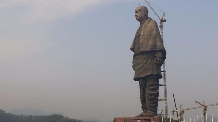 Image result for India relocates crocodiles at world's tallest statue in Gujarat