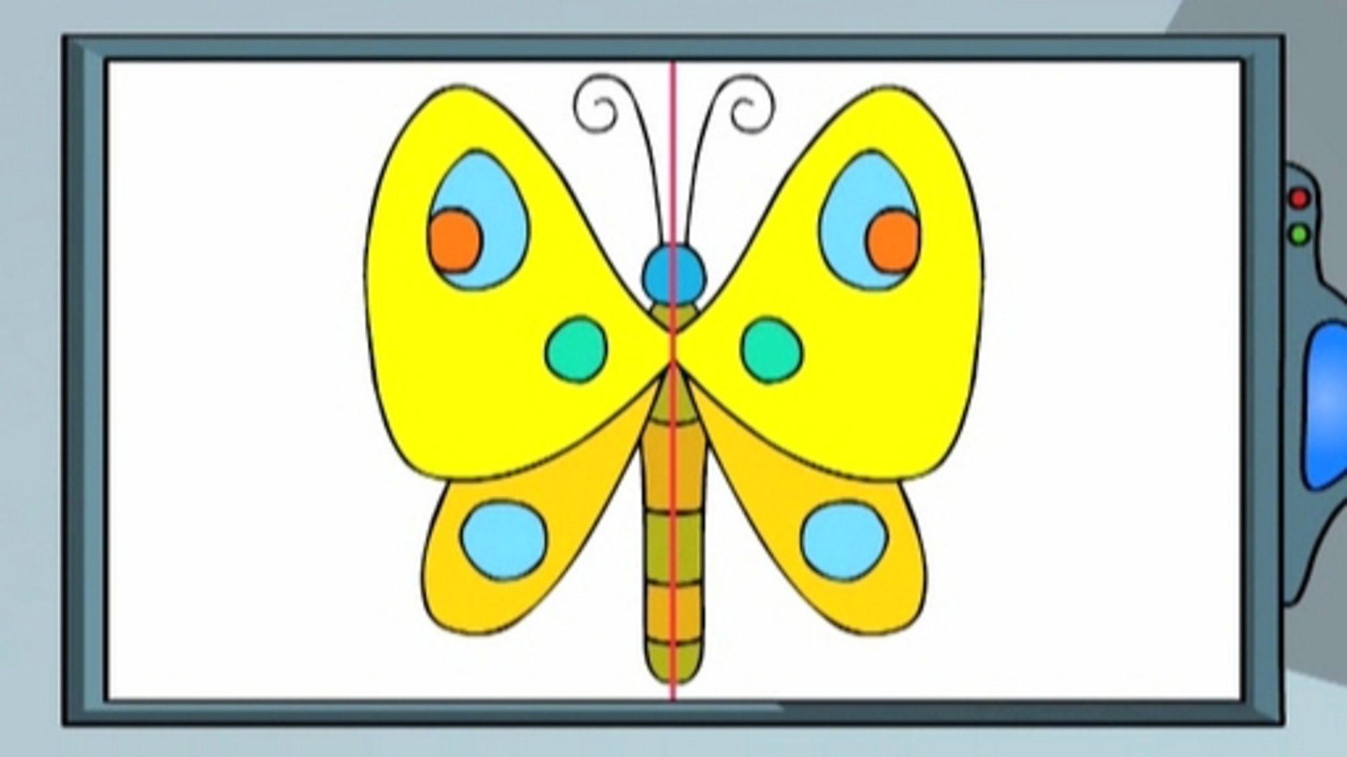 Diagonal Line Of Symmetry Worksheet